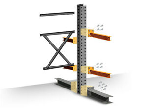 Cantilever Rack Add on Kit Double Sided 16 h X 48 d X 48 w With 4 h Arms