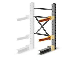 Cantilever Rack Add on Kit Single Sided 8 h X 60 d X 48 w With 5 h Arms
