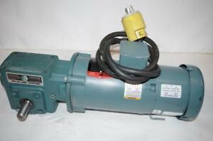 Reliance Electric 0 75hp Ac Motor Speed Reducer Brake p56h7213 208 230 460v