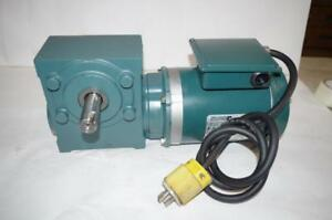 Reliance Electric 1hp Ac Motor Speed Reducer P56h1441h Tigear 30 1 Ratio