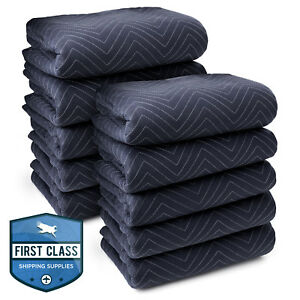 10 Moving Blankets Furniture Pads Pro Economy 80 X 72 Navy Blue And Black