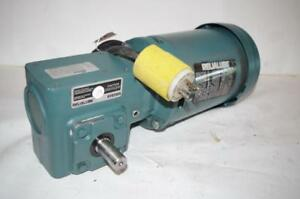 Reliance Electric 1 2hp Ac Motor Speed Reducer P56h5069mql Dodge 30 1 Ratio