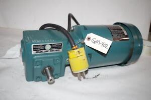 Reliance Electric 1 2hp Ac Motor Speed Reducer P56h5069m Dodge 20 1 Ratio