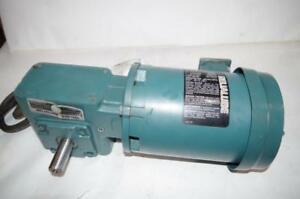 Reliance Electric 1 2hp Ac Motor Speed Reducer P56h5069m Dodge 30 1 Ratio
