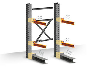 Cantilever Rack Starter Kit Single sided 10 h X 48 d X 48 w With 5 h Arms