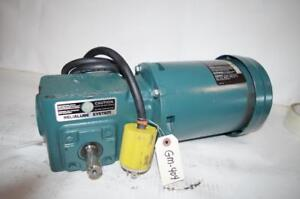 Reliance Electric 1 2hp Ac Motor Speed Reducer P56h5069m Tigear 20 1 Ratio