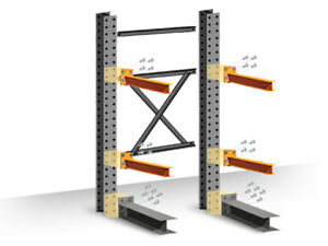 Cantilever Rack Starter Kit Single sided 12 h X 48 d X 48 w With 4 h Arms
