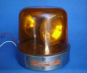 Vintage Arrow 530 12v Amber Rotating Safety Signal Warning Beacon Light federal