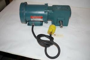 Reliance Electric 1 2hp Ac Motor Speed Reducer P56h5069u Tigear 50 1 Ratio