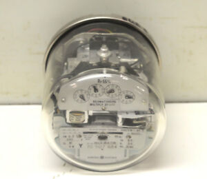 Ge Vm 64s Electric Three stator Watthour Kwh Demand Meter 701x18g735 240v Fm 9s