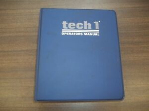 Vetronix Gm Tech1 Tech1a Scanner Scan Tool Operators Manual Instruction Book