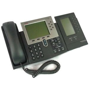 Cisco Cp 7962g Unified Ip 6 line Voip Business Office Phone W Expansion Module