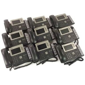 Lot Of 9 Yealink T38g Sip t38g Hd Gigabit Color Ip Office Poe Phone no Base
