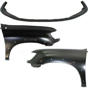 Bumper Cover Kit For 2000 2002 Toyota Tundra Front 3pc With Fender