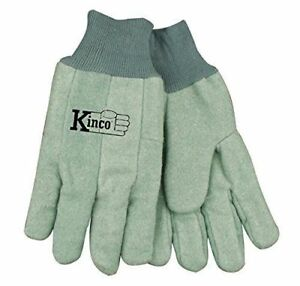 Kinco Chore Green Cotton Work Gloves Size Large Farm Construction 12 Pairs