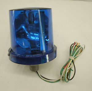 Electraray Federal Signal Blue Industrial Rotating Safety Beacon Light 225 120b