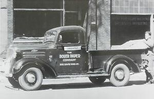 1937 Chevrolet Pickup Truck Half Ton 12 X 18 Black White Picture