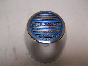 Vintage Blue Chrome Cragar Push In Through Plastic Wheel Center Cap Hot Rat Rod