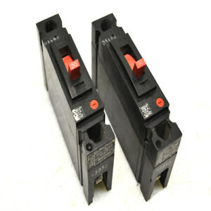 2 Ge General Electric Thed113030 1 pole 30a Circuit Breakers 277vac 125vdc