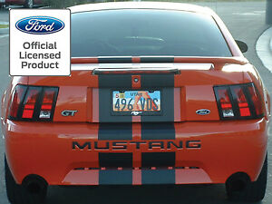 99 04 Ford Mustang Letters Rear Bumper Inserts Vinyl Decals Graphics Stickers