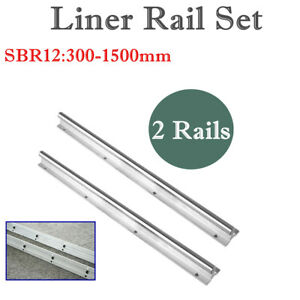 2x 12mm Sbr12 L300 1500mm Linear Rail Slide Guide Shaft Rod Cnc 3d Printer