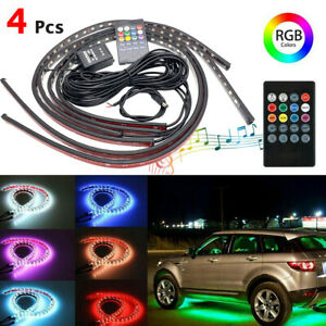 72 Led Strip Car Truck Interior Atmosphere Underglow Rgb Light Music App Control