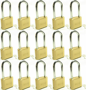 Lock Brass Master Combination 175lh lot Of 15 Long Shackle Resettable Secure