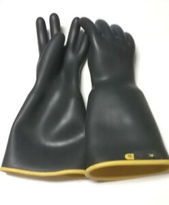 1 Pair 16 Rubber Insulating Lineman Gloves Size 10 Extra Large seconds