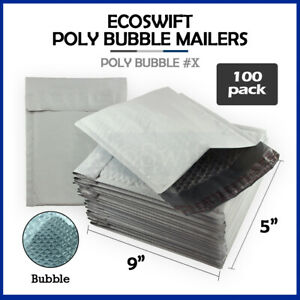 100 x 5x9 Self Seal Poly Bubble Mailers Padded Shipping Envelopes Bags 5 X 9