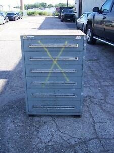 Stanley Vidmar Gray 6 Drawer Industrial Tool parts Cabinet 30 l X 28 w X 44 H