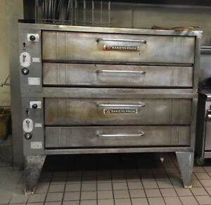 Bakers Pride 451 452 Nat Gas Double Deck Pizza Oven 66 W Excellent Stones