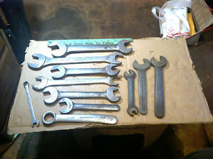 Vintage 11 Williams Wrenches 9 Open End 1 Box 1 Combination