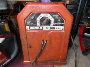 Welding Machine Older Lincoln 180 Amp Ac In Good Working Used Condition No Ship