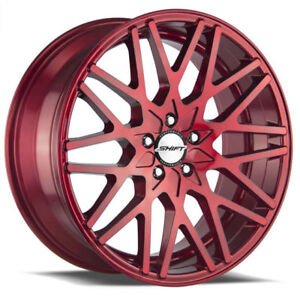 22 Inch Shift Performance Formula Candy Red Wheels Rims Tires Fit 5 X 114 3