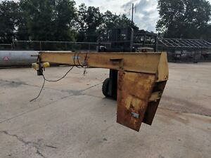 Spanco 1 2 Ton Pedestal Jib Crane W 15 Arm 11 Base 1 2ton Electric Hoist