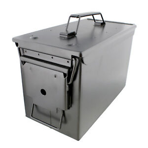 Ammo Case – Military amp; Army Solid Steel Holder Box for Long Term Ammo Storage $27.99