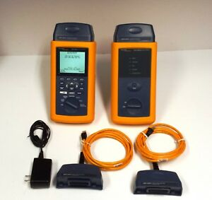 Fluke Dsp 4000 Cable Analyzer W Dsp 4000sr Smart Remote Dsp lia011 Dsp lia012
