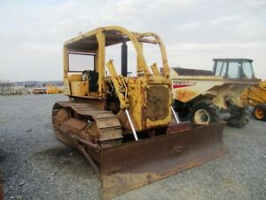 Caterpillar D4d Crawler Dozer Rops W Sweeps Good U c Angle Blade