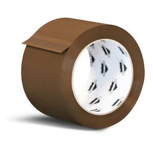 3240 Rolls Brown Tan Acrylic Packing Tape Shipping 2 inch Wide 1 8 Mil 55 Yards