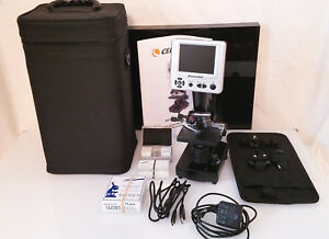 Celestron Lcd Digital Microscope Model 44340 With Case Manual Accessories