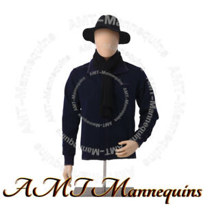 Ymt3 ft Male Half Body Mannequiv Torso stand head Rotate skin Tone Dress Form