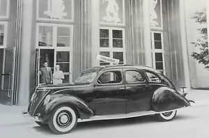 1936 Lincoln Zephyr 6 Window Sedan 12 By 18 Black White Picture