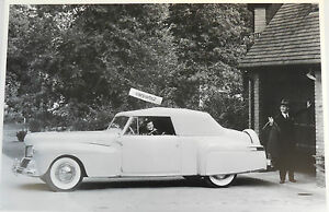 1942 Lincoln Continental Cabriolet 12 By 18 Black White Picture