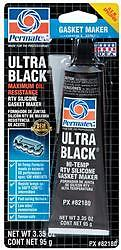 Permatex 82180 Gasket Sealer Ultra Black r Squeeze Tube 3 35 Ounce 1 Pack
