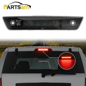 For 2005 2010 Jeep Grand Cherokee Smoke Lens Red Led Third 3rd Brake Light Lamp