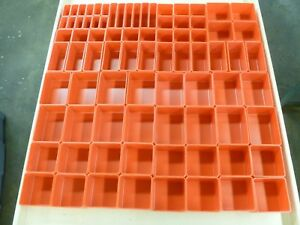 233 Pc Red Plastic Box Assortment 2 Deep 18 Sizes Lista Vidmar Organizers