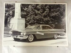 1960 Oldsmobile Dynamic 88 2 Door Hardtop 12 X 18 Black White Picture
