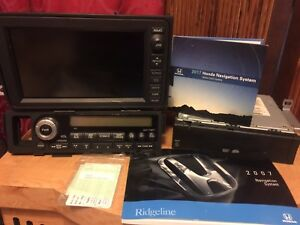 06 10 Honda Ridgeline Entire Navigation System Gps Screen 6 Cd Tuner Dvd Oem