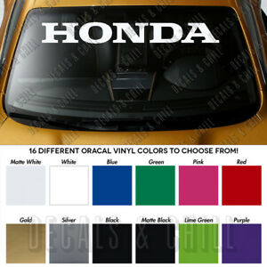 Honda Type R Jdm Civic Si Windshield Banner Vinyl Premium Decal Sticker 40