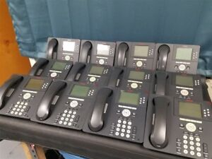 Lot Of 12 Avaya 9630 Voip Business Phones With Stands And Handsets
